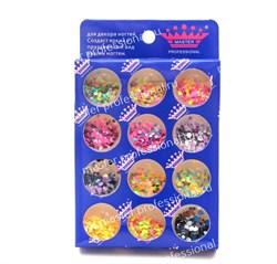 конфетти (камифубики) для ногтей (набор)неон - фото 5131