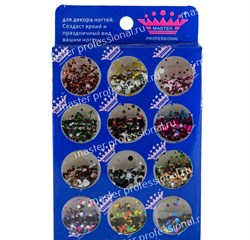 конфетти (камифубики) для ногтей (набор)металл - фото 5183