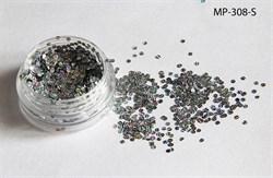 конфетти (камифубуки ) для ногтей .набор-голография серебро - фото 5736
