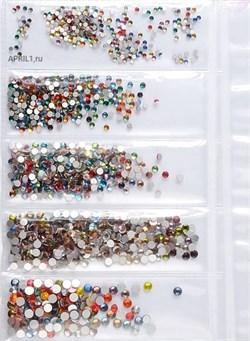 Стразы для ногтей МИКС ЦВЕТОВ. НАБОР - 6 размеров - 1440 штук - фото 6442
