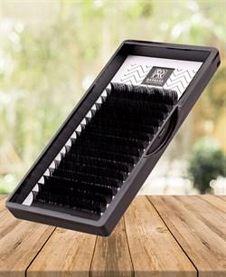 Чёрные ресницы BARBARA «Elegant» изгиб L отдельные длины 0,7-0,10 8-14 - фото 7224