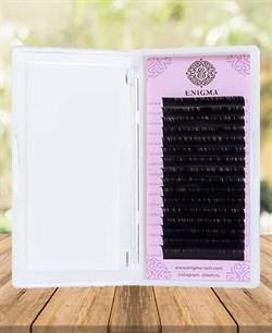 Ресницы чёрные Enigma изгиб MIX M 0,07-0,10 7-14 - фото 7240