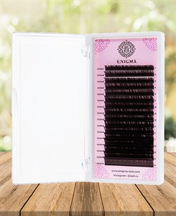 Ресницы цвет «Мокка» ENIGMA изгиб D отдельные длины 16 линий 0,07-0,10 7-13 - фото 7244