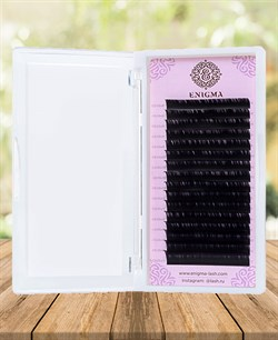 Ресницы чёрные Enigma отдельные длины C 6-14 - фото 7264