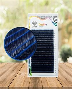 Ресницы двухтоновые синие Lovely 20 линий MIX C 7-13 - фото 7273