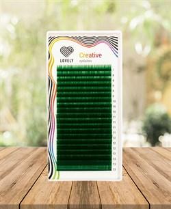 Ресницы зелёные (green) Lovely  20 линий MIX C 7-13 - фото 7276