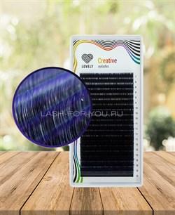Ресницы двухтоновые темно фиолетовые Lovely 20 линий MIX D 7-13 - фото 7278