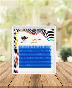 Ресницы лазурные (azure) Lovely MINI 6 линий MIX C 10-14 - фото 7289