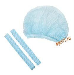 Шапочка - шарлотка голубая. Упаковка 100 штук - фото 7603