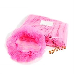 Шапочка шарлотка розовая. Упаковка 100 штук - фото 7604