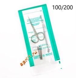 Пакеты комбинированные самоклеящиеся для стерилизации 100/200 мм 100 шт. - фото 7634