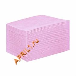 Полотенце 35х70 см 50г/м2.Розовое текстурное 50 штук. - фото 7684