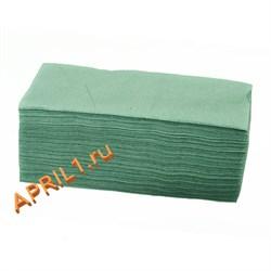 Полотенце 35х70 см 50г/м2.Зелёное текстурное 50 штук. - фото 7685