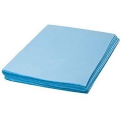 Простынь Стандарт 80 / 200 см. цвет голубой . 20 штук в сложении - фото 7704