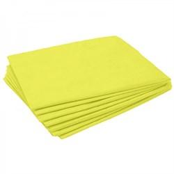 Простынь Стандарт 80 / 200 см. цвет жёлтый . 20 штук в сложении - фото 7705