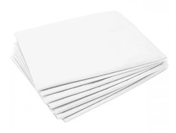 Простынь Стандарт 80 / 200 смс белый . 10 штук в сложении - фото 7706