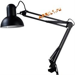 Лампа настольная регулируемая. Чёрная матовая. - фото 7758