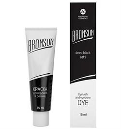 Краска для ресниц и бровей BRONSUN, цвет черный №1, 15мл - фото 7779