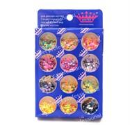 конфетти (камифубики) для ногтей (набор)неон