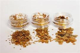 конфетти (камифубуки ) для ногтей .набор-голография золото