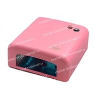 УФ лампа для ногтей 318 a-b (36 Вт) Розовая