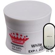 Гель для наращивания White   30 грамм . Master Professional.