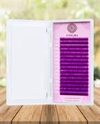 Цветные ресницы ENIGMA фиолетовые (микс) 16 линий D 8-13