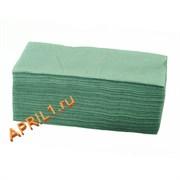 Полотенце 35х70 см 50г/м2.Зелёное текстурное 50 штук.