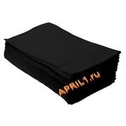Полотенце 35х70 см спанлейс 50г/м2. Чёрное  50 штук.