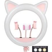 Кольцевой осветитель с ушками . CAT . 45 см. Розовый