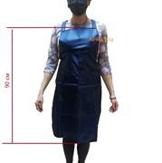 Фартук тёмно синий 90 см. Два кармана.